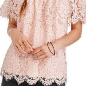 No boundaries off the shoulder lace top